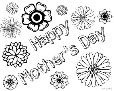 free printable coloring pages for mother's day