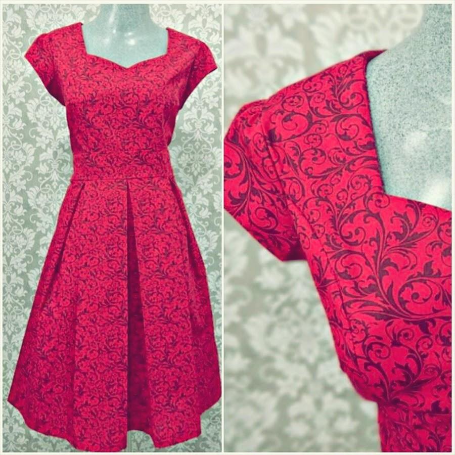 vestido vermelho vintage