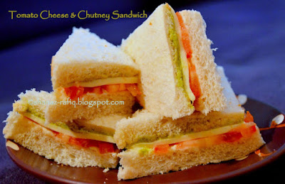 Tomato Cheese & Chutney Sandwich
