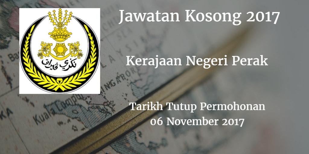 Jawatan Kosong Kerajaan Negeri Perak 06 November 2017