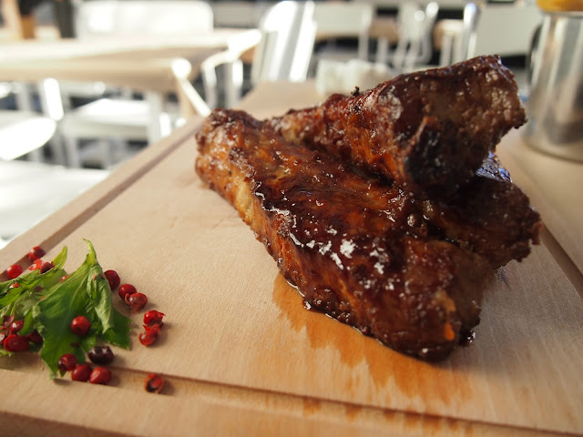 Eat delicious ribs at Rene restaurant in Klaipeda Lithuania