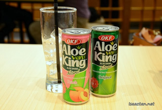 Aloe Vera drink to down all the good food