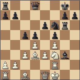 Partida de ajedrez Puget vs. Ferrer, posición después de 18…Cf6