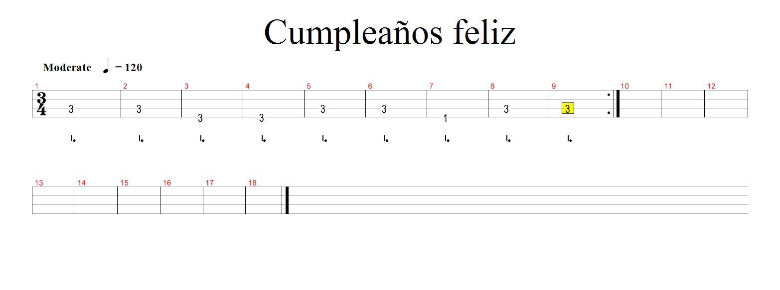 Feliz Cumpleaños Guitarra