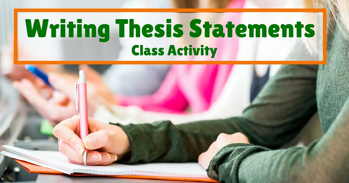 thesis statement writing activities