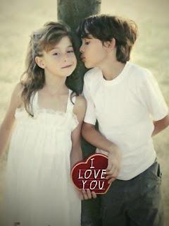 Cute Kids - Love Couple Mobile Wallpaper