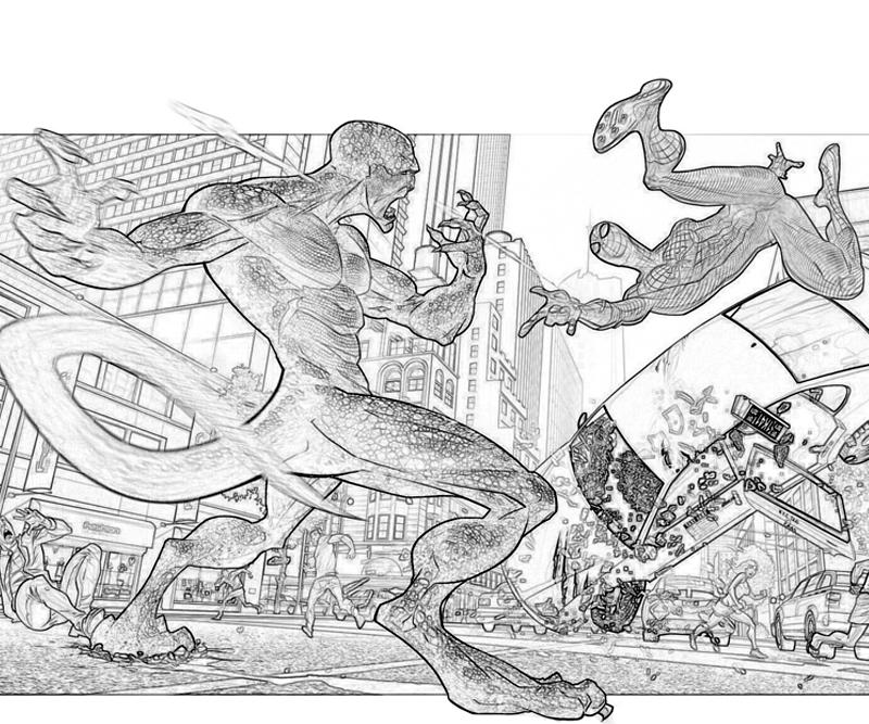 amazing spider man coloring pages - the amazing spider man iguana yumiko fujiwara