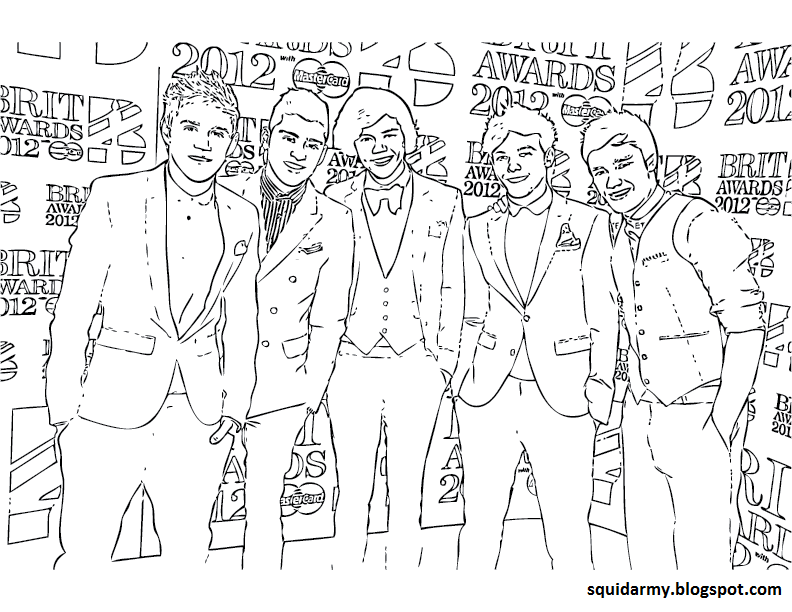 print one direction coloring pages - photo#22