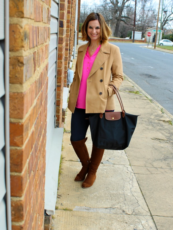 lilly pulitzer, elsa top, longchamp, preppy style