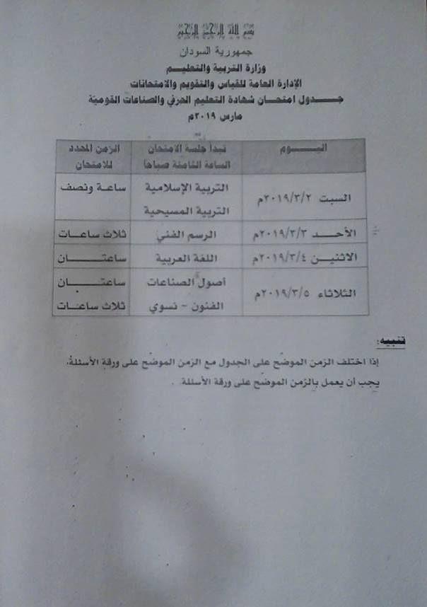 دليل امتحانات الشهادة السودانية ٢٠٢١