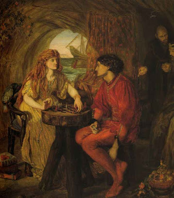 The Tempest (Ferdinand and Miranda Playing Chess) (1870), Lucy Madox Brown Rossetti