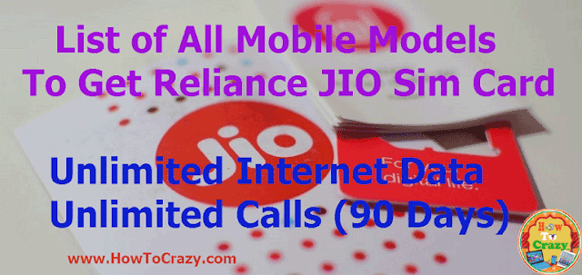 (Updated) Reliance JIO Supported All Companies Android Mobiles List (Without Bar Code)