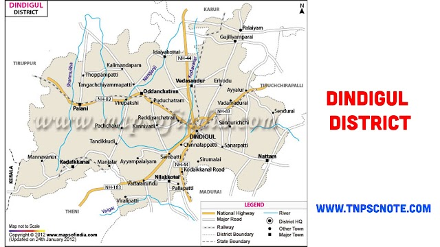 Dindigul District Information, Boundaries and History from Shankar IAS Academy