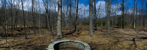 Community Fire Pit at Parlor Rock Park along the Pequonnock Valley Greenway