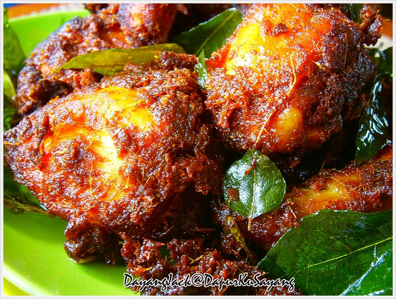 DapurKu SaYang: Ayam Goreng Berempah Beriani (resepi II)