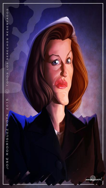 Gillian Anderson por Jose Rodríguez Mota