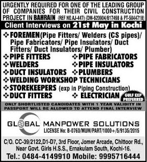 Civil Construction project jobs in Bahrain