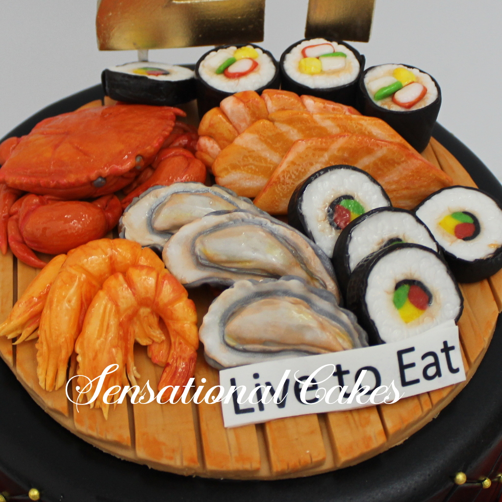Salmon Birthday Cake: The Sensational Cakes: Live To Eat Indeed ! 3d Seafood