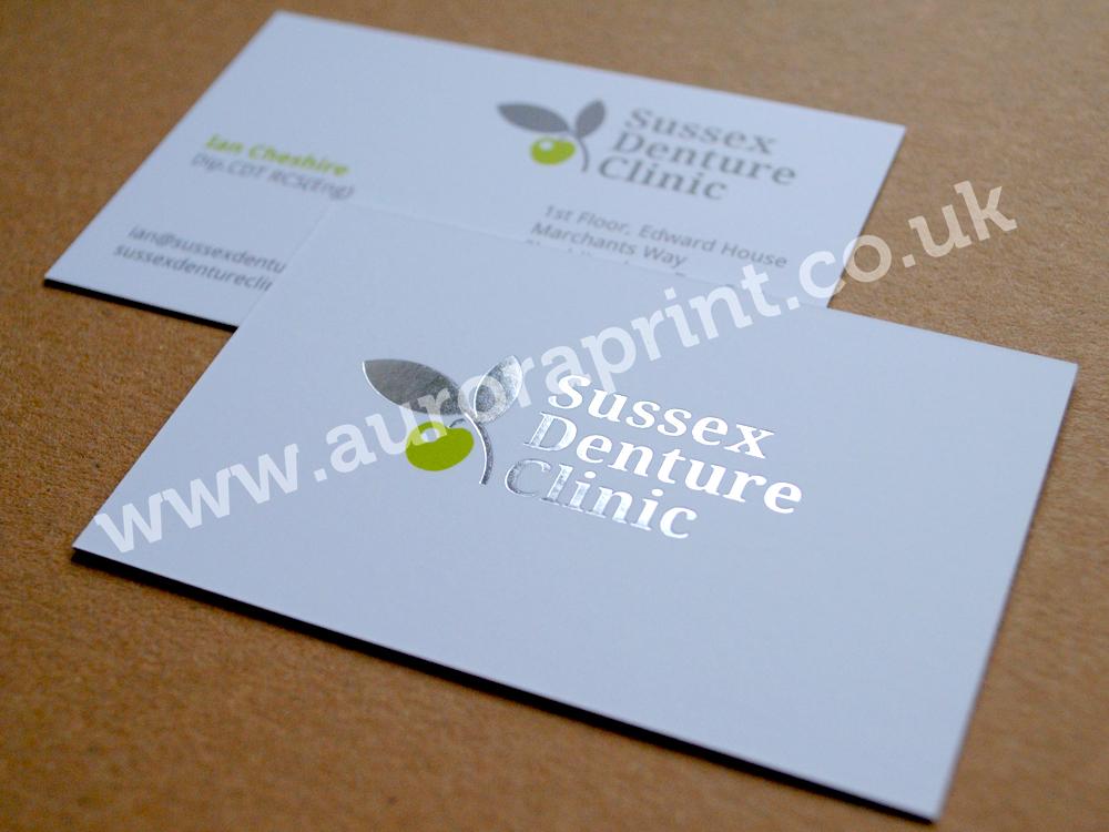 Hot Foil Business Cards by Auroraprint