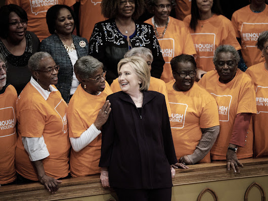 Hillary Clinton Shatters Glass Ceiling With Dead Black Bodies