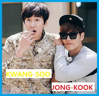 Lee Kwang-Soo and Kim Jong-Kook Members of Running Man