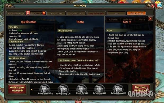 Bằng tài năng và bản lĩnh của mình, mỗi người chơi đều có thể viết nên một  huyền thoại mới và giành lấy danh hiệu đệ nhất cao thủ trong thế giới Phong  Vân.