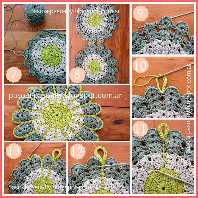 cómo hacer una mandala doble al crochet