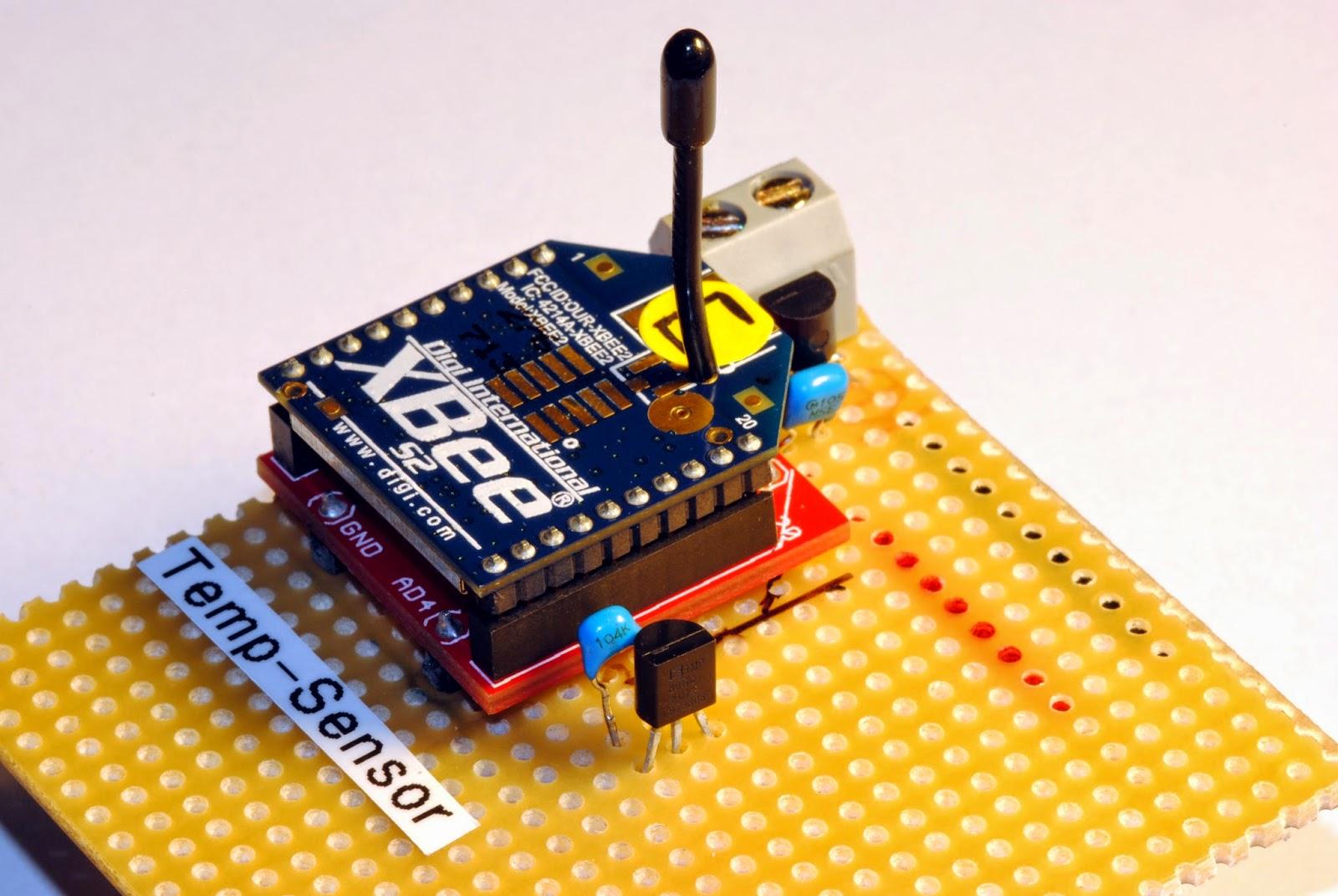 medium resolution of temperature sensor on stripboard