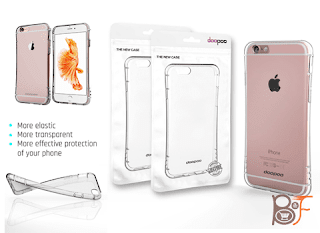 Doopoo Air Cushion Flexible TPU Shockproof Case With Protective Bumper Corner for iPhone 6 / 6s - Crystal Clear