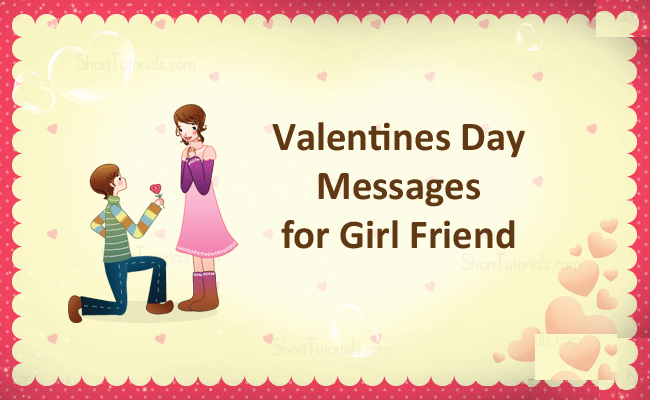 Valentine Day Messages for Girlfriend Romantic Valentine Messages