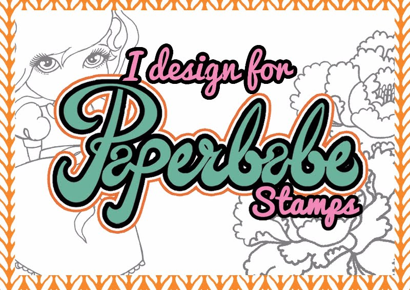 Proud to be a Paperbabe Stamps Design Team  Member New Blog Challenge every Fortnight