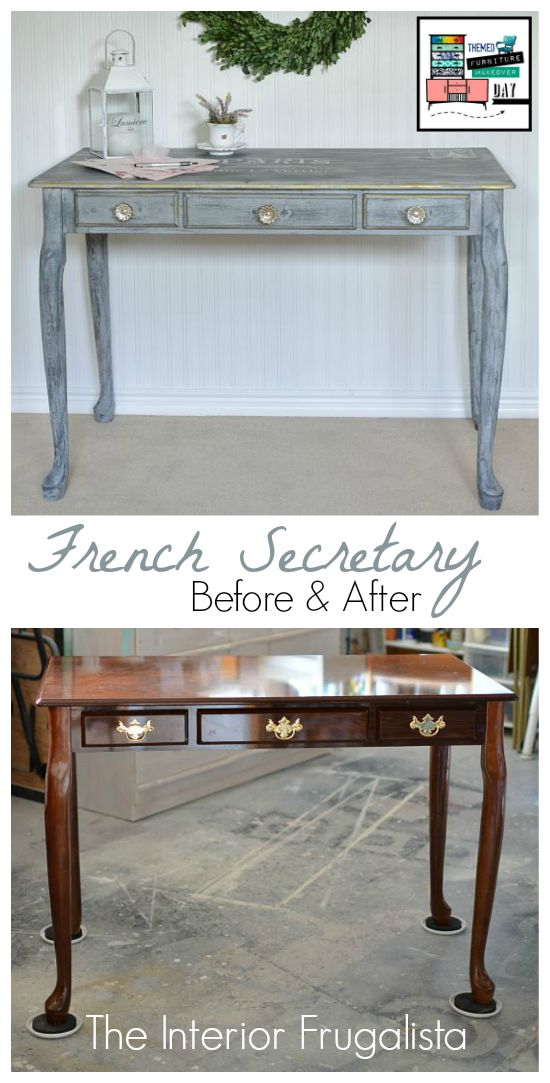 French Desk Makeover Before and After