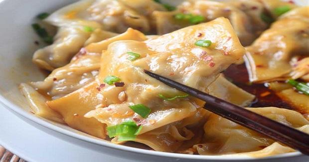 Shrimp And Pork Wontons In Spicy Sauce Recipe