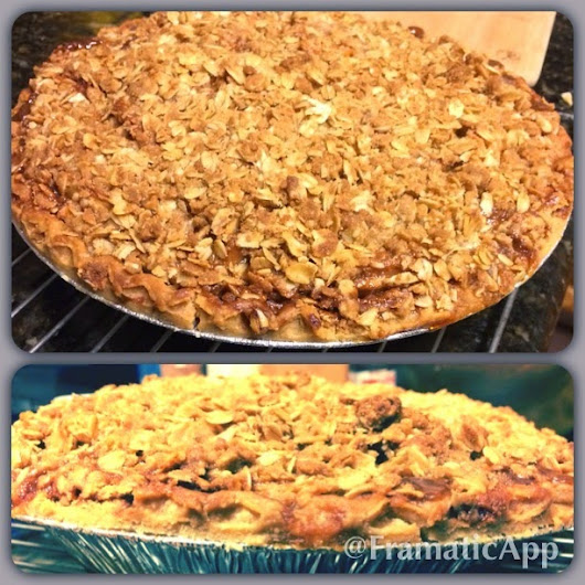 Caramel Apple Crumble Pie... how YOU doing?!