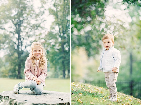 Royal court updated Princess Estelle's and Prince Oscar's pages with a new photo, taken by Erika Gerdemark
