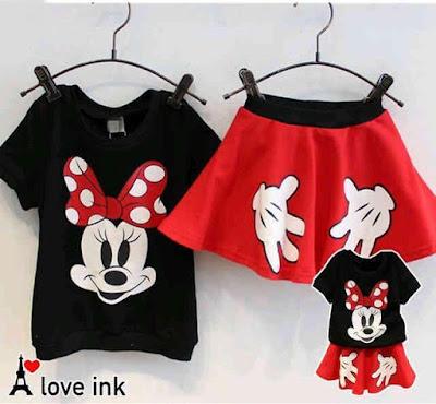 Jual Baju Anak Perempuan Setelan Rok Minnie Pita (Kids) - 12302