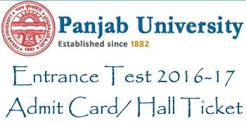 Punjab University Admit Card 2016