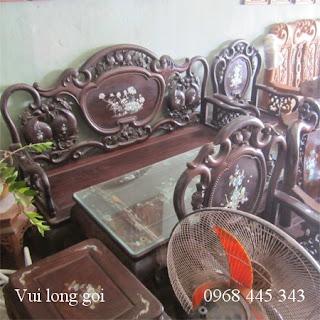 Bộ bàn ghế guột 8 món gỗ trắc