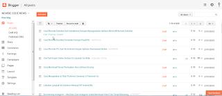Tampilan Baru Dashboard Blogger Admin Dan Cara Menggunakannya