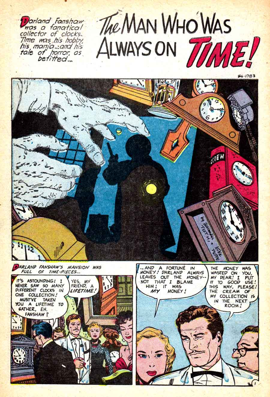 Out of the Shadows #12 Alex Toth 1950s standard horror comic book page art