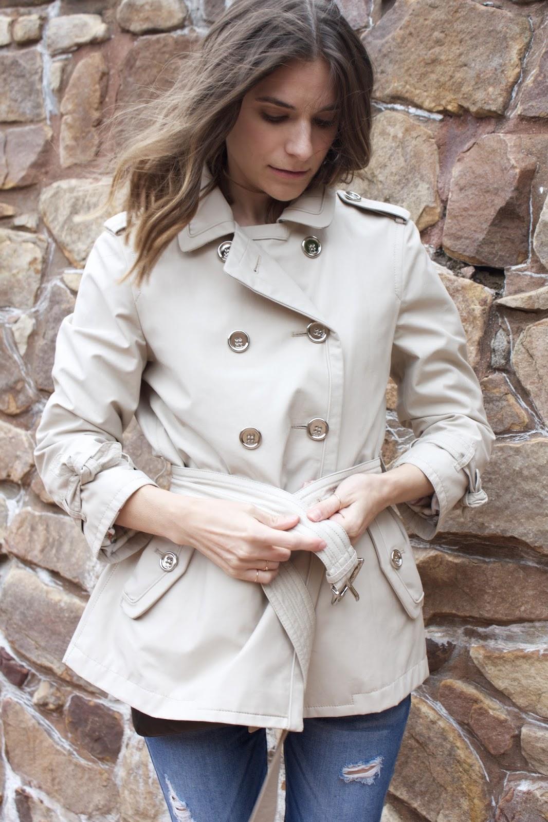 Coach rain coat