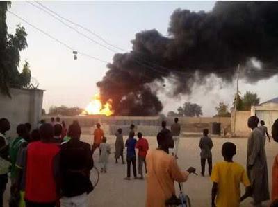 Multiple Bomb Blasts at CBN Quarters In Maiduguri