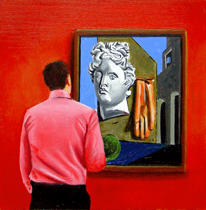 Daily Painters International Art Gallery: Song of Love- Painting Of Man  Enjoying Painting By Giorgio de Chirico