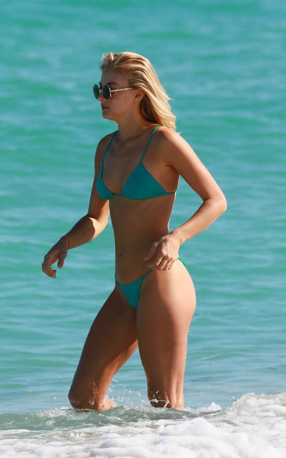 Selena Weber - wearing a bikini in Miami Beach