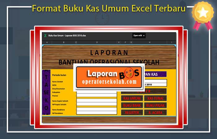 Format Buku Kas Umum Excel Terbaru