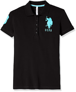 Buy us polo women's band collar t shirts from Amazon