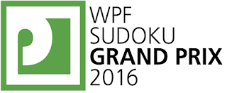 World Puzzle Federation Sudoku Grand Prix 2016