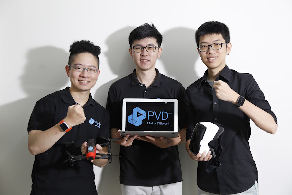 (圖說:PVD+團隊,由左至右:許鈺群、黃正昌、趙智凡,攝影:侯俊偉)