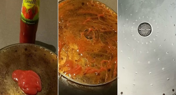 Bersihkan Kotoran Degil Guna Sos Tomato, Hasilnya Periuk Bersinar-Sinar Seperti Baru