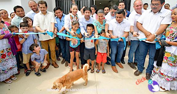 Inauguran Centro de Salud Rural e inician rehabilitación de carretera de la Zona Maya